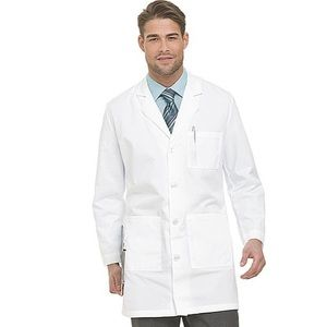 "Men's Landau White 5-Pocket Twill 37"" Lab Coat"